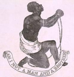 Atado al esclavo y empujado