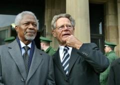Hans Küng y Kofi Annan