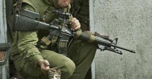 soldado israelí acaricia gato