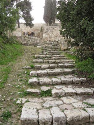 Escalera romana Getsemaní
