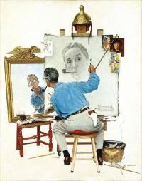 Norman Rockwell, triple autoretrato, 1960.